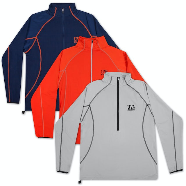 UVA Athletics Pyramid Thermal Stretch Half Zip Jacket
