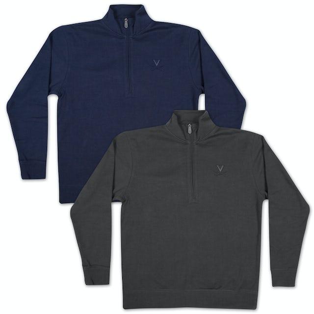 UVA Athletics Swank Textured Quarter Zip Fleece