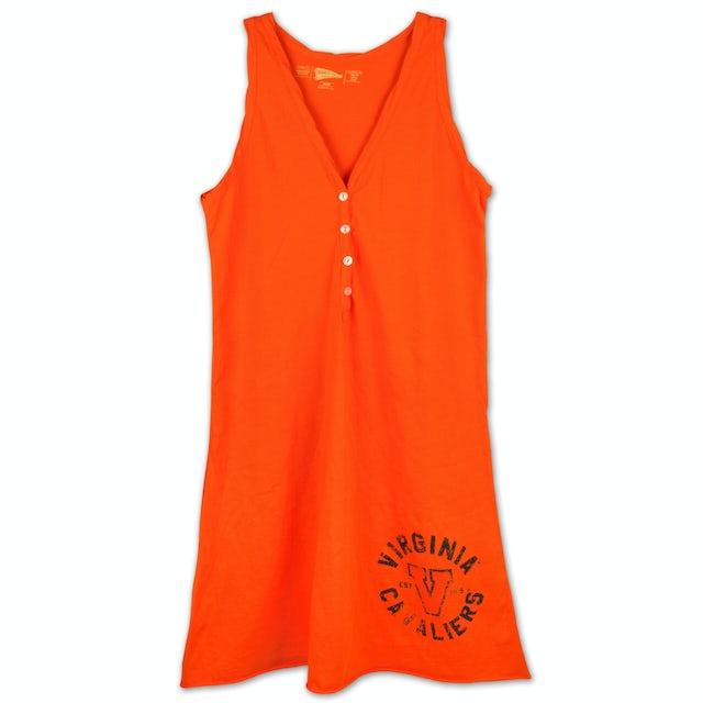 UVA Athletics Ladies Short Henley Dress