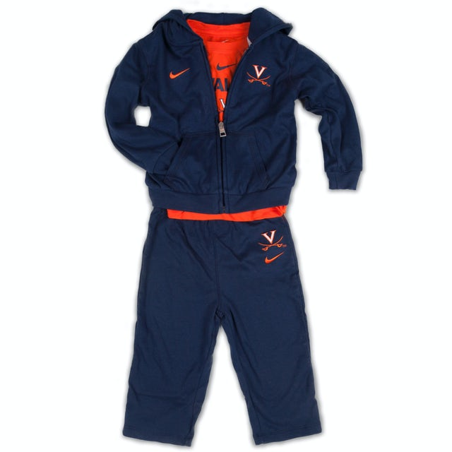 UVA Athletics Infant Tee/Hoody/Pant Set