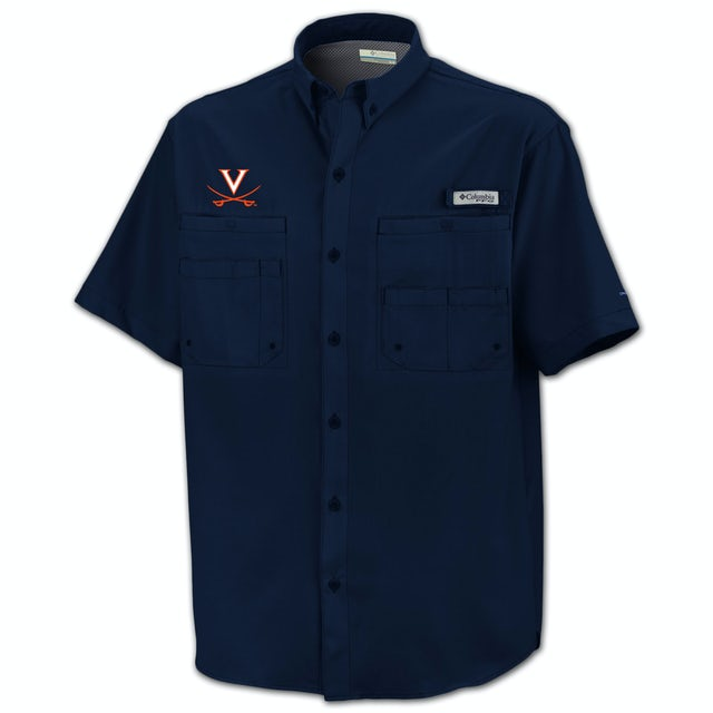 UVA Athletics Columbia Tamiami Fishing Shirt