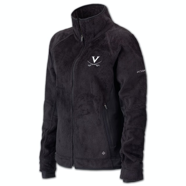 UVA Athletics Columbia Ladies Pearl Plush Full Zip Fleece