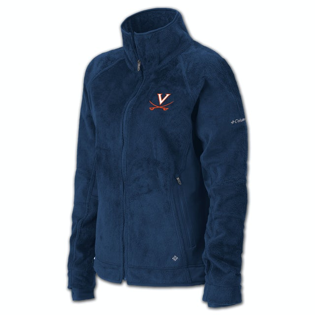 UVA Athletics Columbia Ladies Pearl Plush Full Zip Fleece