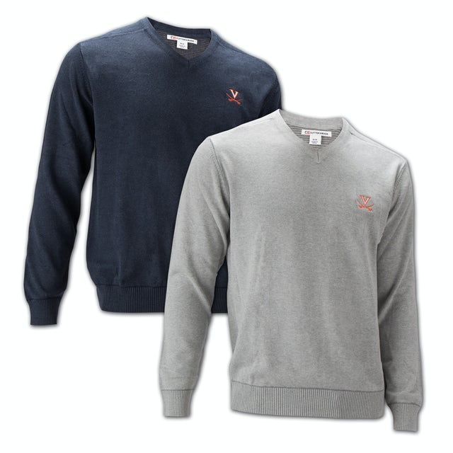 UVA Athletics Cutter & Buck Broadview V-Neck Sweater