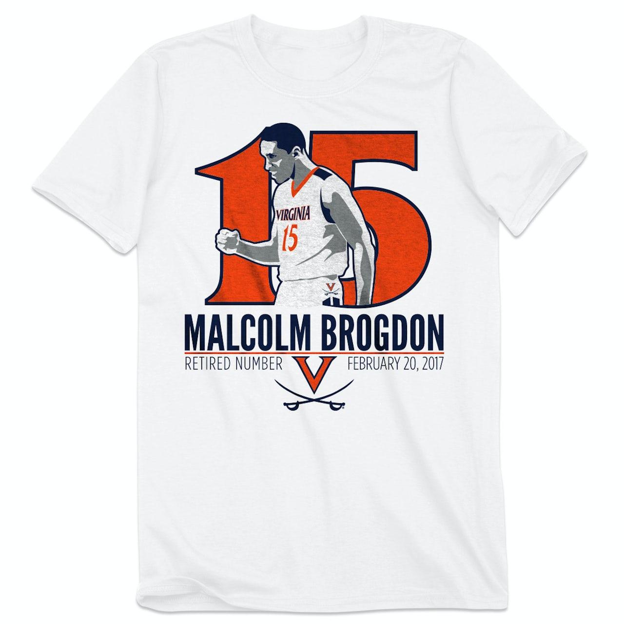 finest selection 5939b 1ab58 UVA Athletics Malcolm Brogdon Retired Number T-Shirt