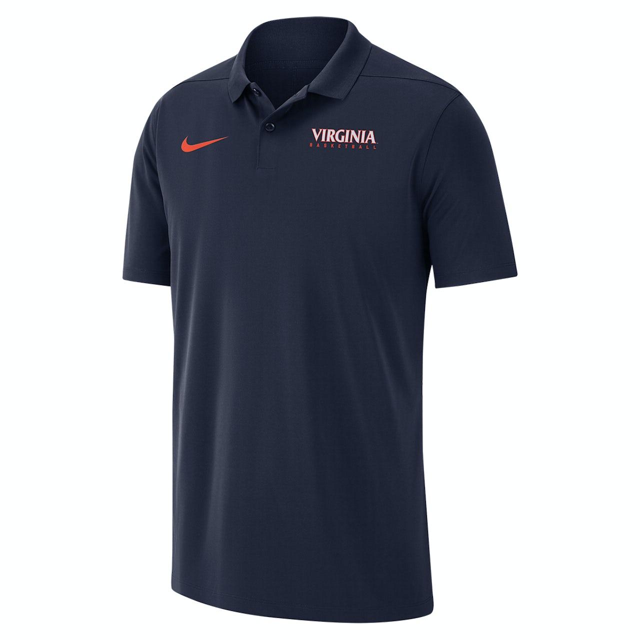 dba84049 UVA Athletics University of Virginia 2018 Nike Navy Basketball Polo