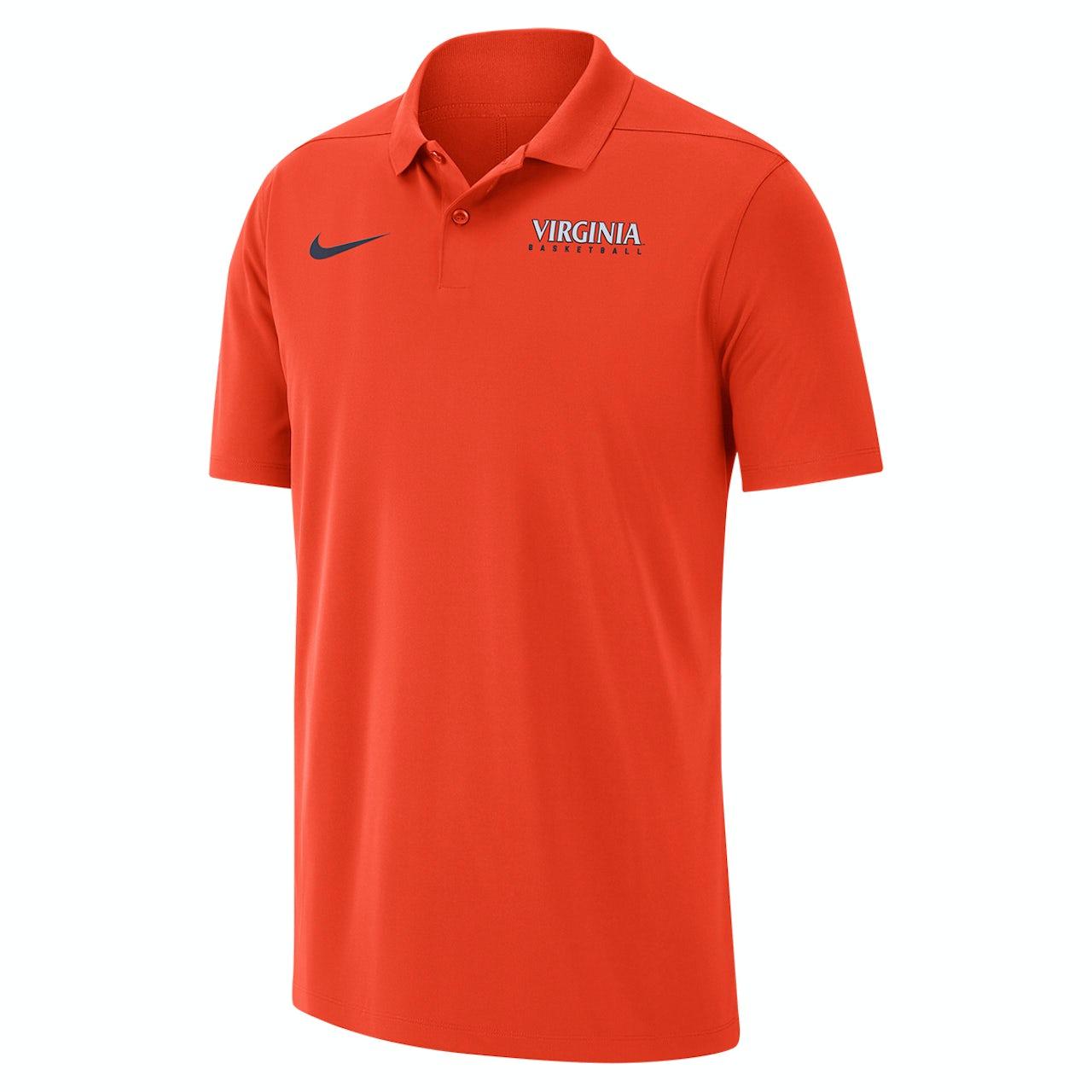 3f7f5e39 UVA Athletics University of Virginia 2018 Nike Orange Basketball Polo