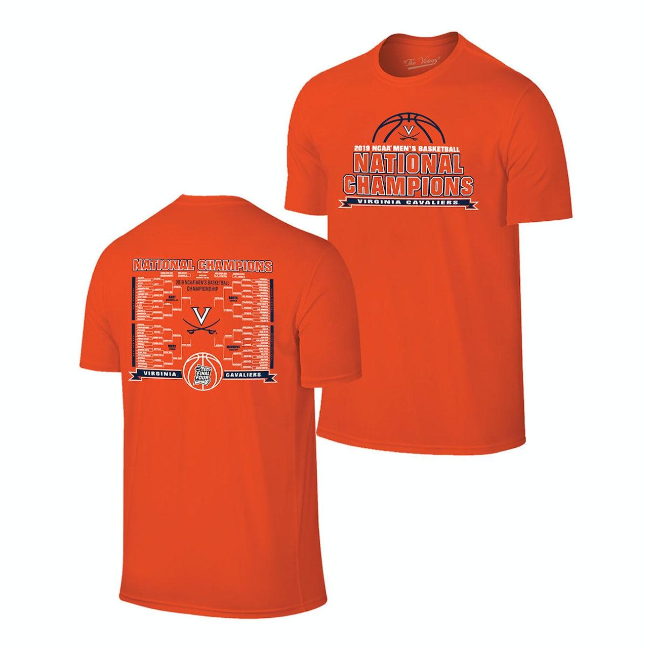 7f48a46ab UVA Athletics 2019 National Champions Bracket T-shirt - Orange