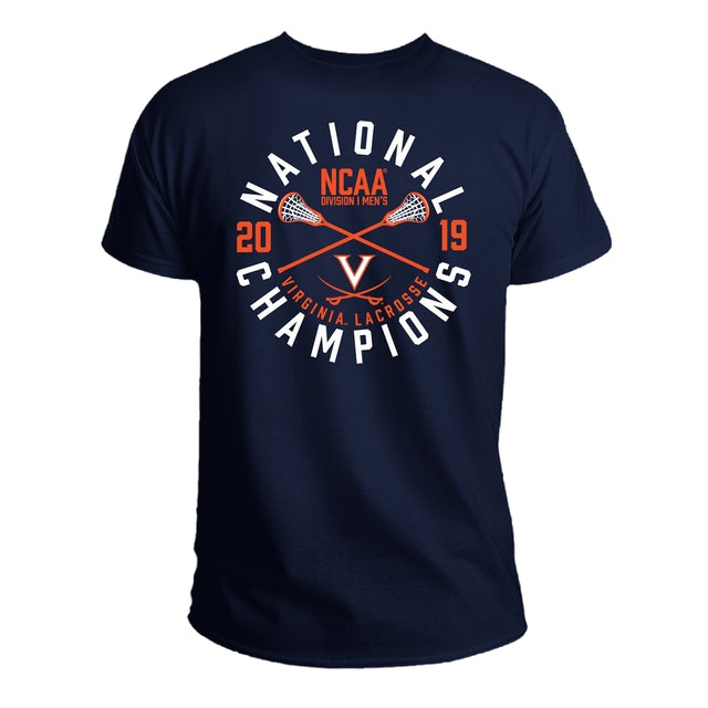 UVA Athletics 2019 Lacrosse National Champs Navy T-shirt