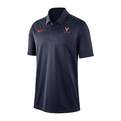 UVA Athletics University of Virginia Nike Navy Dri-fit Polo