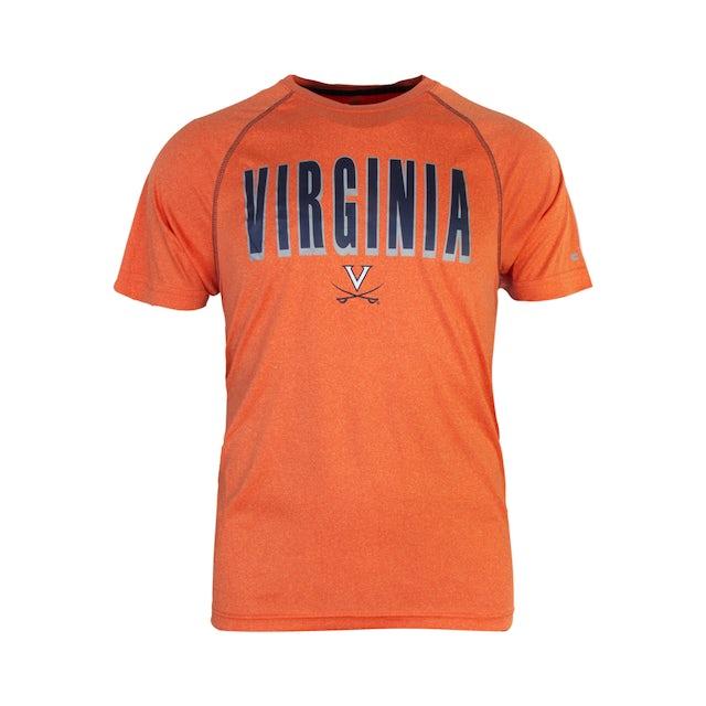 UVA Athletics University of Virginia Reflective Logo Orange T-shirt