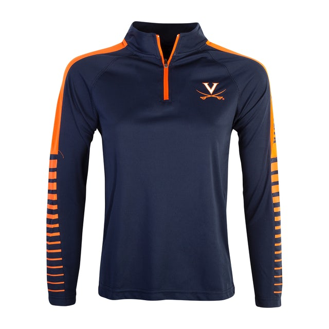UVA Athletics University of Virginia 1/4 Zip LS Youth T-shirt