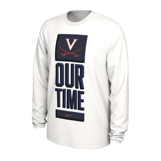 UVA Athletics Virginia Cavaliers 2020 Our Time Bench LS T-shirt