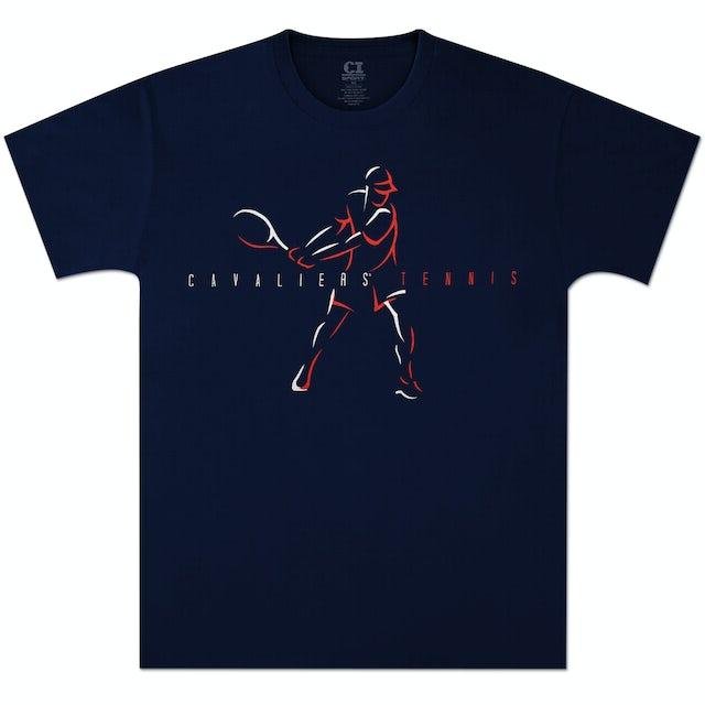 UVA Athletics Cavalier Tennis T-shirt Navy