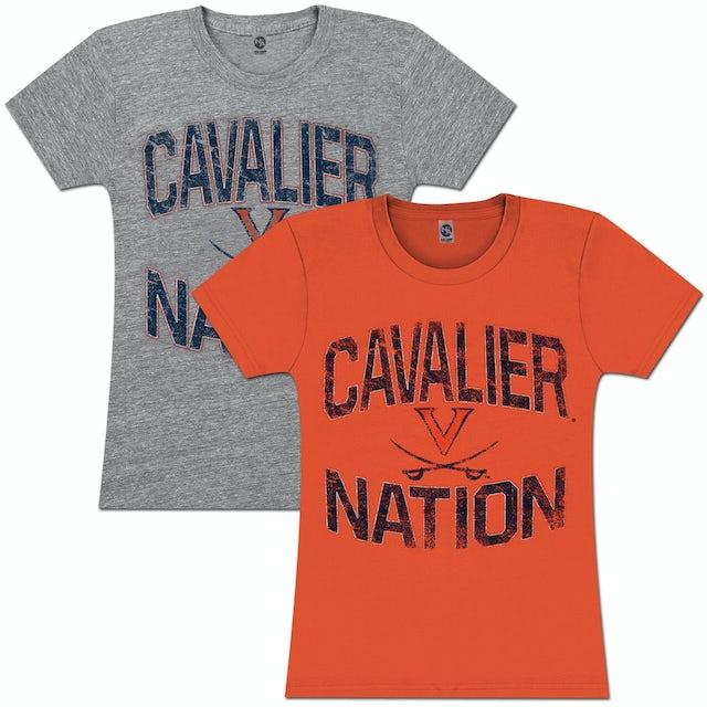 UVA Athletics Laney Wahoo Nation Heather Ring Spun Ladies T-shirt