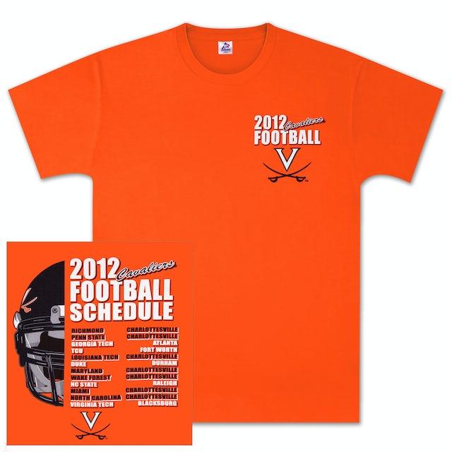 UVA Athletics 2012 Football Schedule T-shirt