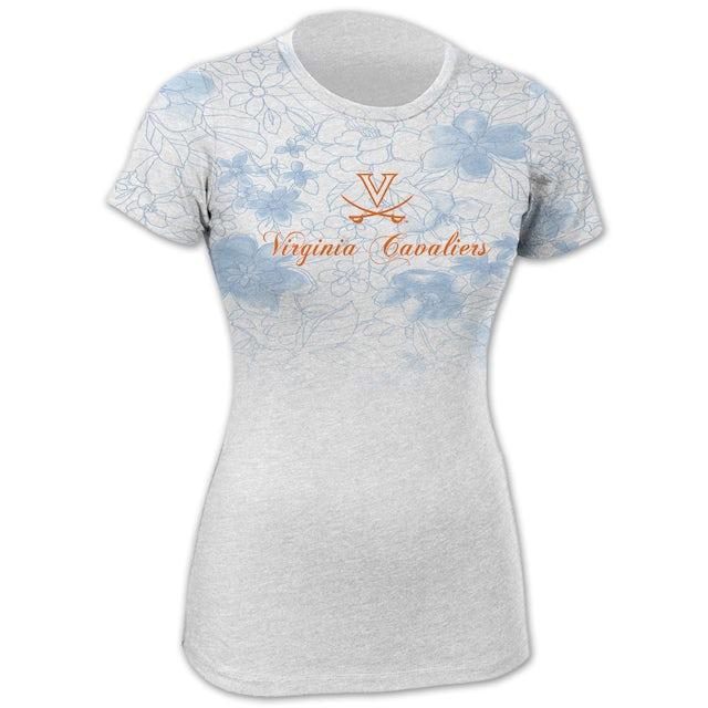 UVA Athletics Floral Blue Fade T-shirt