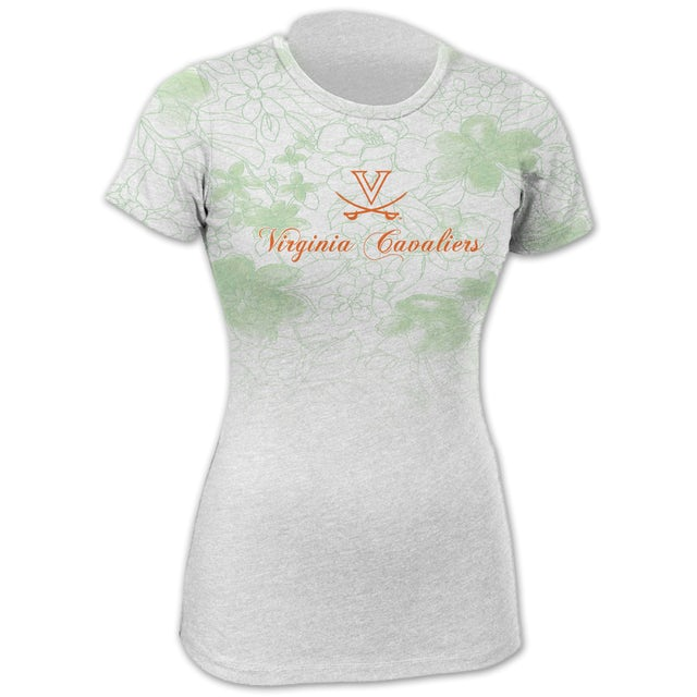 UVA Athletics Floral Green Fade T-shirt