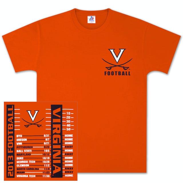 UVA Athletics 2013 Football Schedule T-Shirt