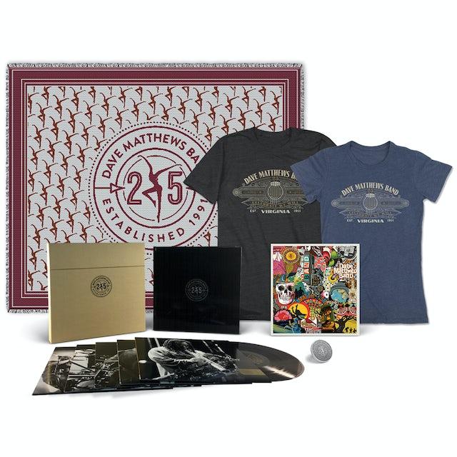 Dave Matthews Band Live 25 + Tee + Pin + Poster + Blanket Bundle