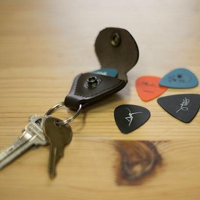 Dave Matthews Band Leather Guitar Pick Holder Keychain