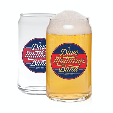 Dave Matthews Band 16oz Circle Logo Beer Can Glass