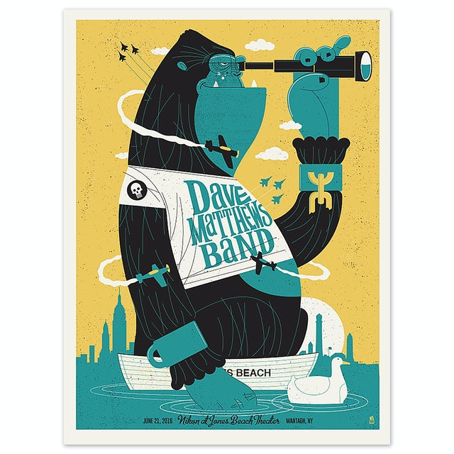 Dave Matthews Band Show Poster - Wantagh, NY 6/21/2016
