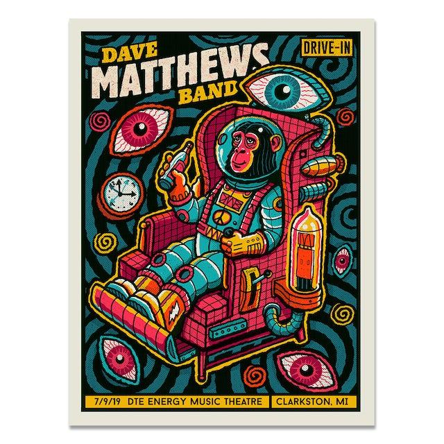 Dave Matthews Band Drive-In Poster – Clarkston, MI – 7/9/19