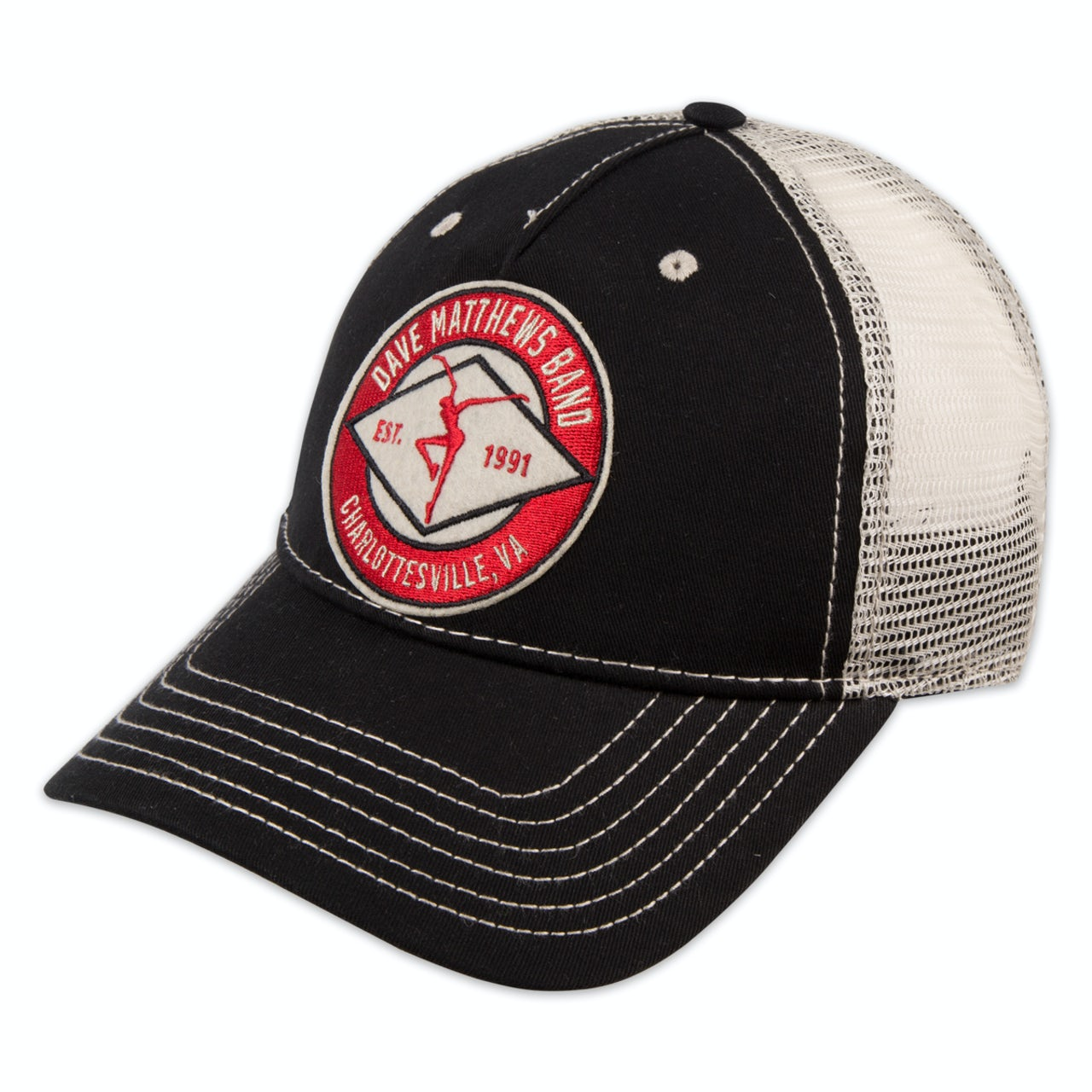 d35365829 Dave Matthews Band Black Trucker Hat