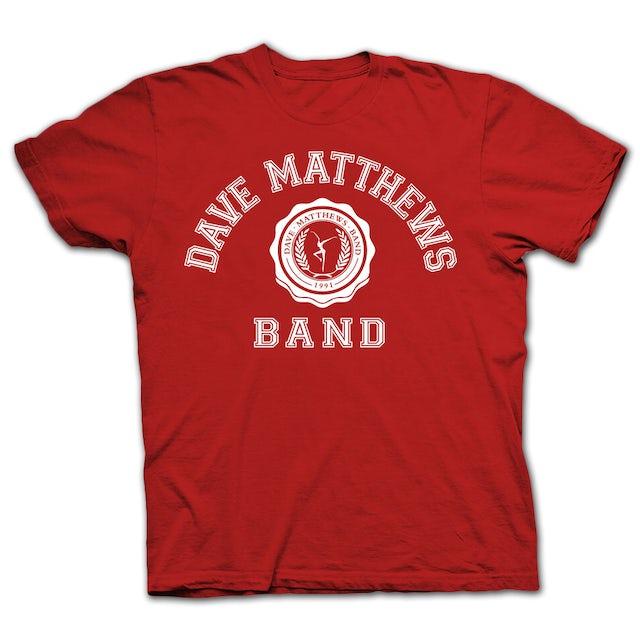 Dave Matthews Band 2014 Collegiate Tee Red/White