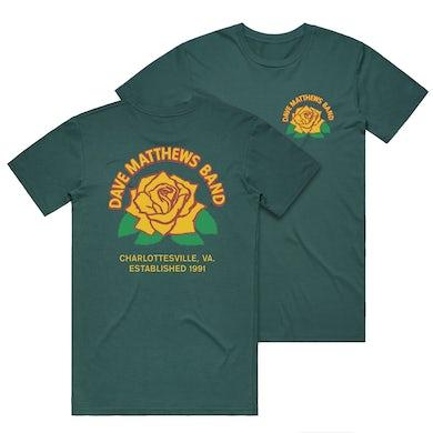 Dave Matthews Band Rose Tee - Spruce