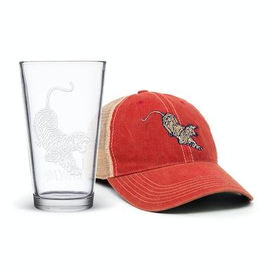 Jerry Garcia Tiger Hat & Pint Glass Bundle