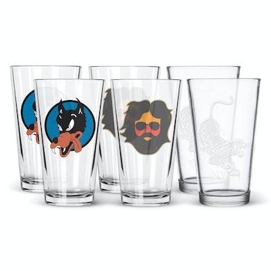 Jerry Garcia Pint Glass 6-Pack Bundle