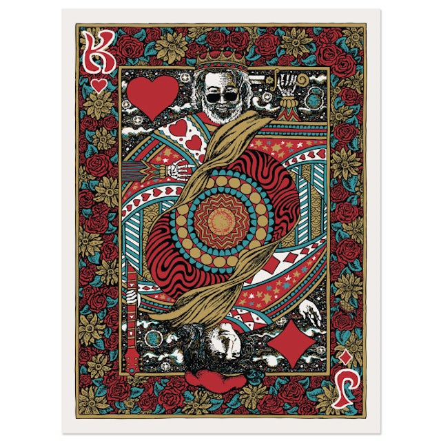 """Jerry Garcia """"King of Hearts"""" Jigsaw Puzzle"""