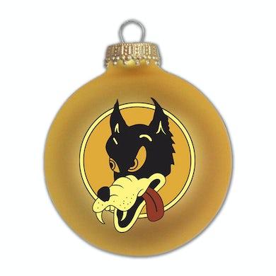 Jerry Garcia Wolf Glass Ornament