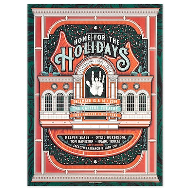 Jerry Garcia Home For The Holidays Event Poster
