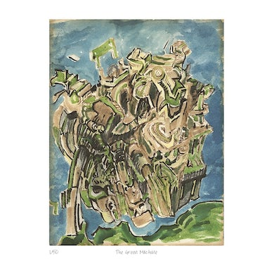 """""""The Green Machine,"""" a limited edition giclée by Jerry Garcia"""