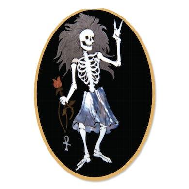 Jerry Garcia Rosebud Sticker