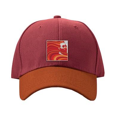Jerry Garcia Garcia Hand Picked Dad Hat in Maroon