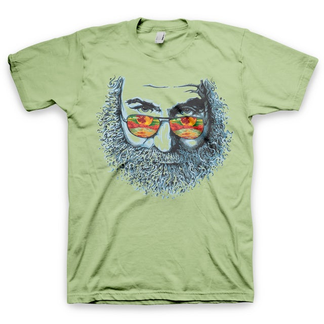 Jerry Garcia Palm Sunday Recycled or Organic Blend T-Shirt