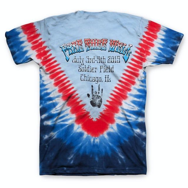 Jerry Garcia Captain Trips Fare Thee Well Tie Dye