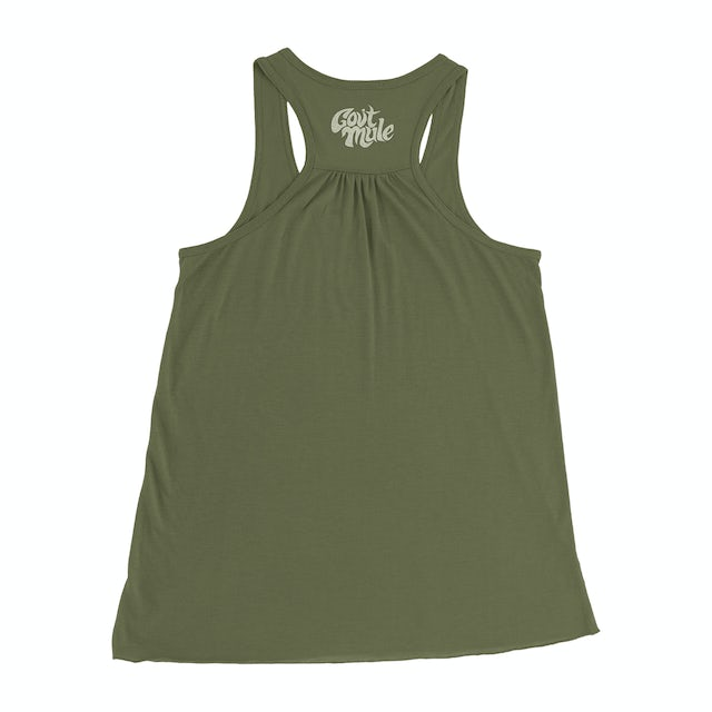 Govt Mule Green Mulehead Ladies Tank Top