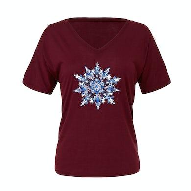 Govt Mule 2018 Christmas Jam Women's Snowflake T-Shirt
