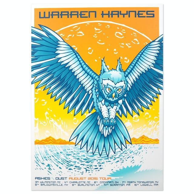 Warren Haynes August 2015 Tour Poster