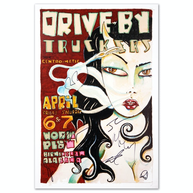 Drive-By Truckers 2012 Birmingham Poster Signed