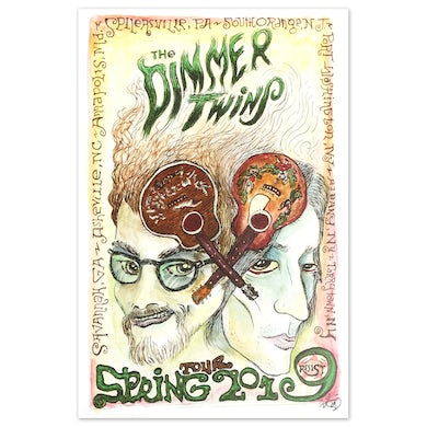 Drive-By Truckers The Dimmer Twins Spring 2019 Tour Poster