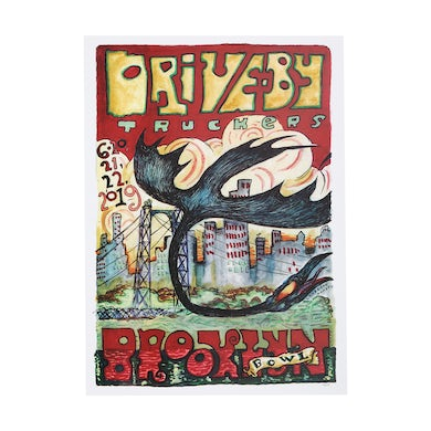Drive-By Truckers Brooklyn Bowl June 20-22 2019 Poster