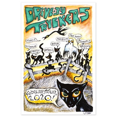 Drive-By Truckers February 2020 Tour Poster