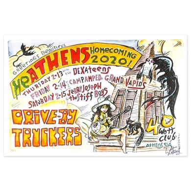 Drive-By Truckers Homecoming 2020 Poster