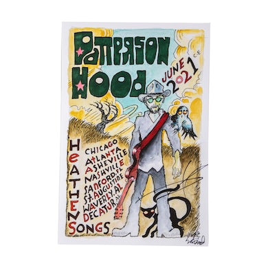 Patterson Hood Summer 2021 Solo Tour Poster - SIGNED